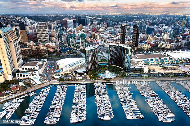 aerial cityscape san diego - san diego stock pictures, royalty-free photos & images