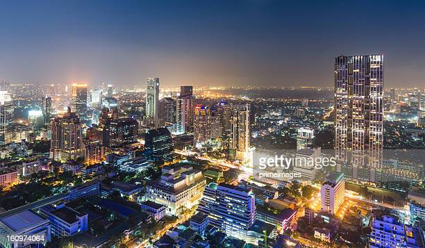aerial cityscape view in asia - borough district type stock pictures, royalty-free photos & images