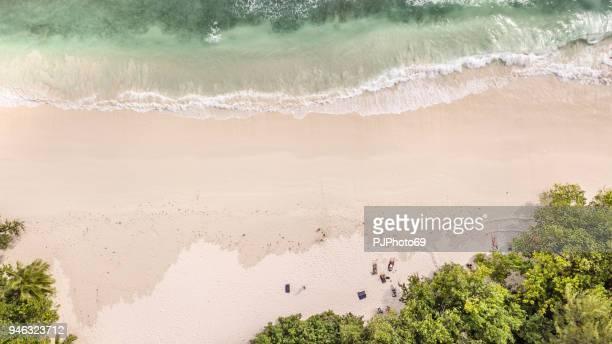 Kust luchtfoto van Anse Volbert - Mahe - Seychellen