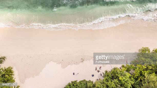 Aerial coastal view of Anse Volbert - Mahe - Seychelles