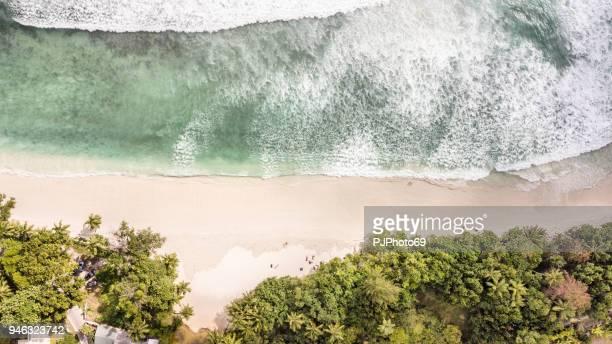 昂斯沃爾伯特灣海岸鳥瞰圖-馬-塞席爾 - pjphoto69 個照片及圖片檔