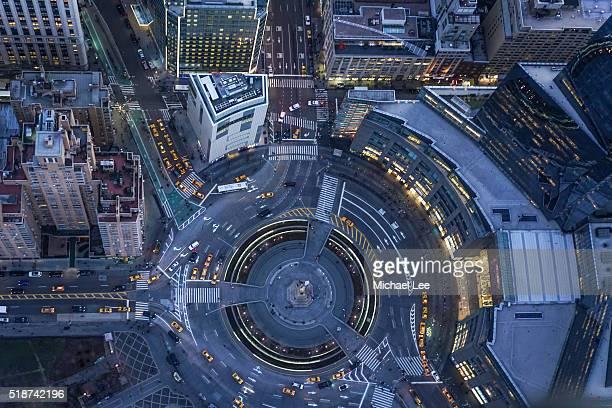 Aerial Columbus Circle - New York