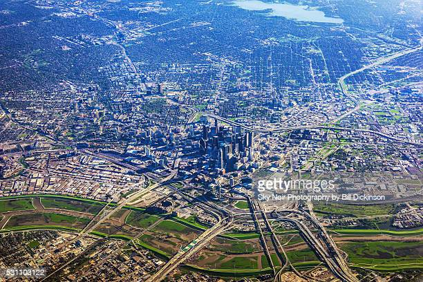 aerial dallas - trinity river texas stock pictures, royalty-free photos & images