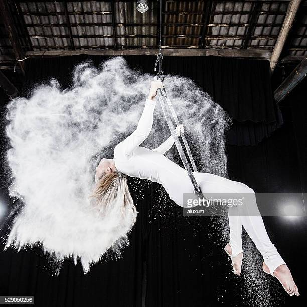 Aerial dancer performance