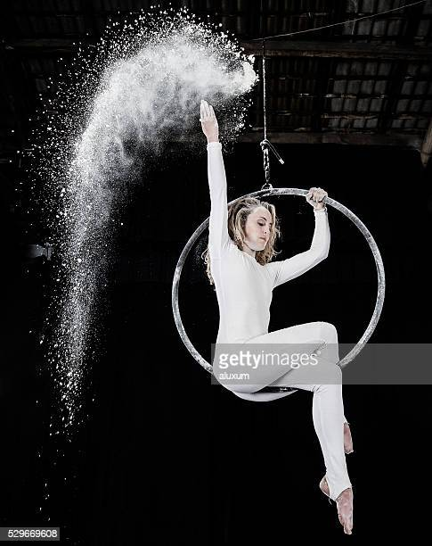 Luftbild Tänzer performance