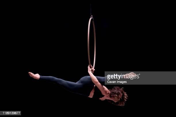 aerial dancing beauty - artist stock-fotos und bilder