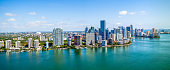 Aerial Drone Panoramic of Downtown Miami
