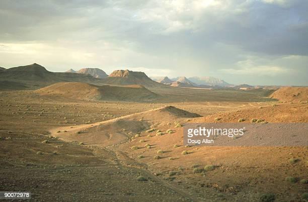 aerial dry desert region in summer, damaraland, namibia