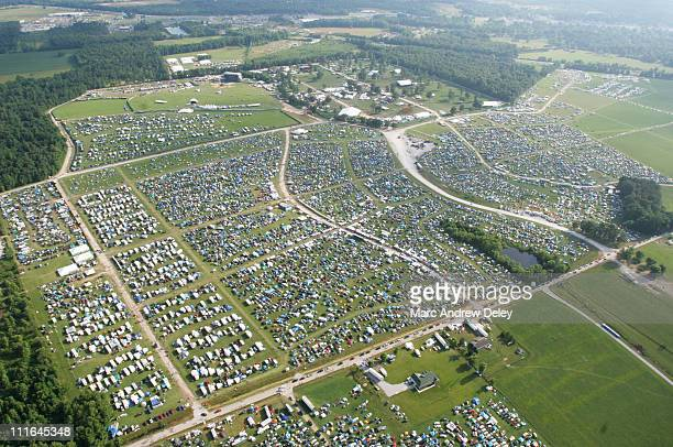 Aerial during Bonnaroo 2005 - Pre-Festivities - Aerials - June 9, 2005 in Manchester, Tennessee.