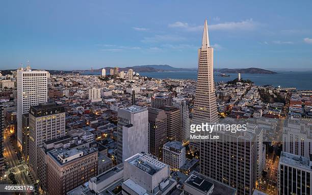 Aerial early morning view of San Francisco