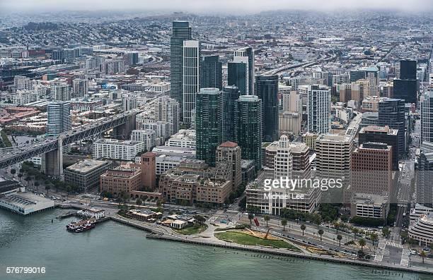Aerial Embarcadero - San Francisco