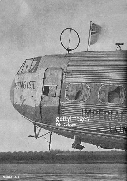 Aerial equipment on the Imperial Airways liner Hengist' from 'Wonders of World Aviation Vol 1' by Clarence Winchester c1937 The round aerial is part...