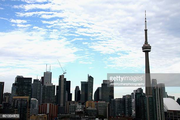 Aerial explorers Mustang Wanted Vitaliy Raskalov and Vadim Makhorov perform a climbing stunt high above the Toronto International Film Festival...