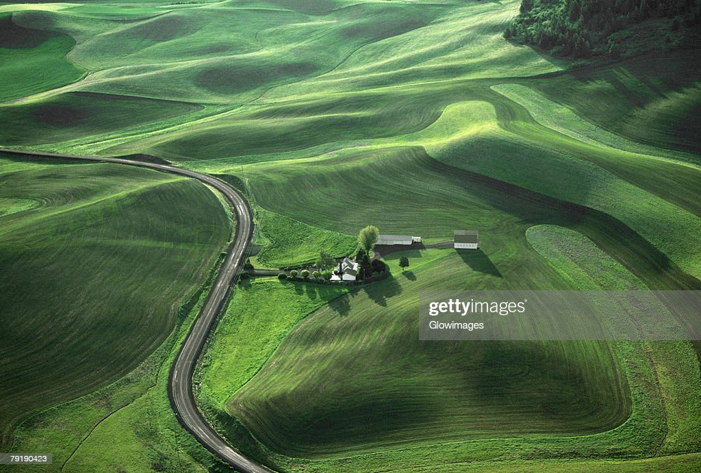 Aerial, farm country  : Stock Photo