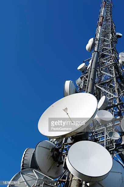 aerial for \ttelecommunications - telecommunications equipment stock photos and pictures