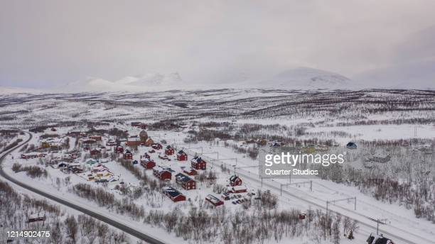 aerial gate of lapland - norrbotten province stock pictures, royalty-free photos & images