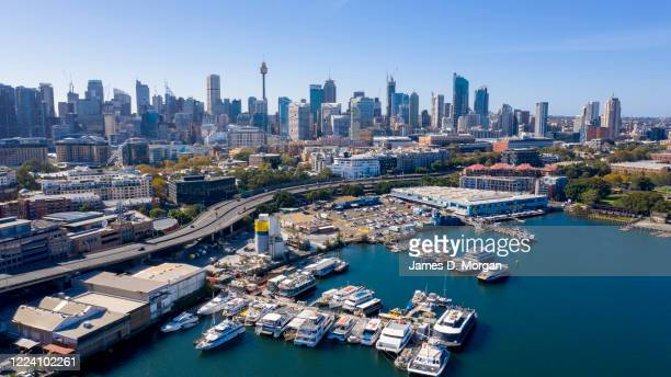 Aerial general views of the Fish Markets on May 10, 2020 in Sydney, Australia.