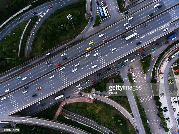 Aerial highway junction