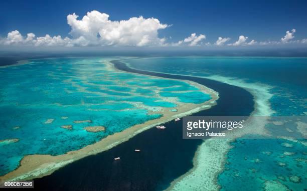 Aerial image, Great Barrier Reef, Australia