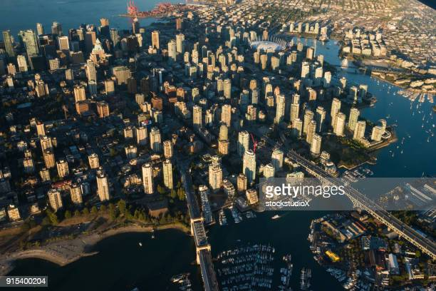 Aerial image of downtown Vancouver, Canada