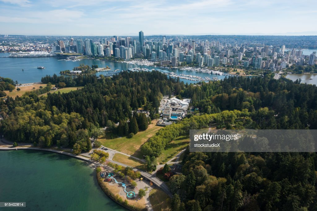 Aerial image of downtown Vancouver, Canada : Stock Photo