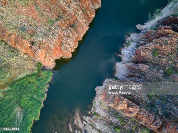 Aerial Image of Glen Helen Gorge, West MacDonnell ranges, Northern Territory