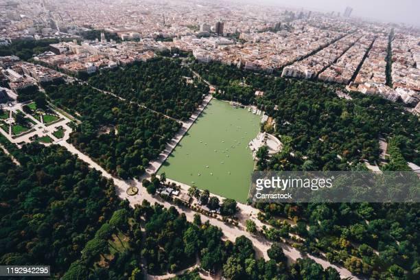 aerial image of madrid, spain. - madrid imagens e fotografias de stock