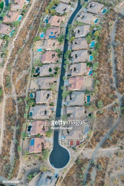 Aerial image of residential community in North Phoenix