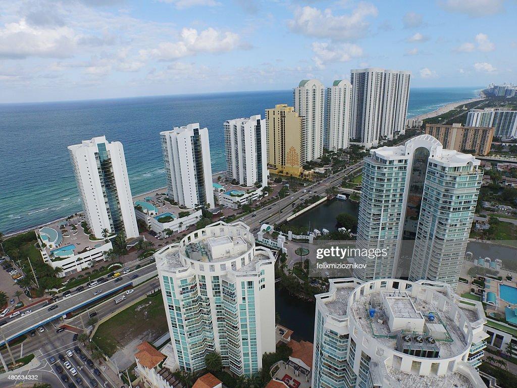 Aerial image of Sunny Isles Beach FL : Stockfoto