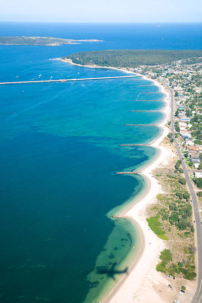 Aerial image of the coast and beaches near Sydney