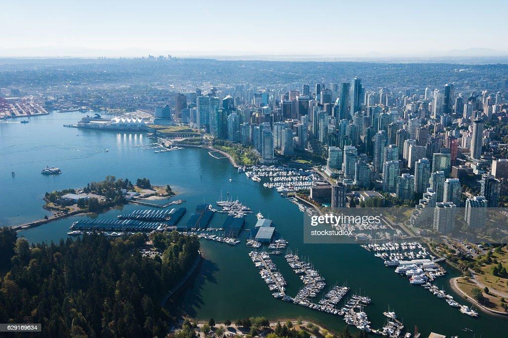 Aerial Image of Vancouver, British Columbia, Canada : Stock Photo