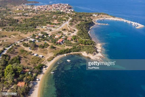 Aerial images of Ammouliani or Amouliani or Amoliani island in Greece Ammouliani is a little island located in Chalkidiki region in northern Greece...