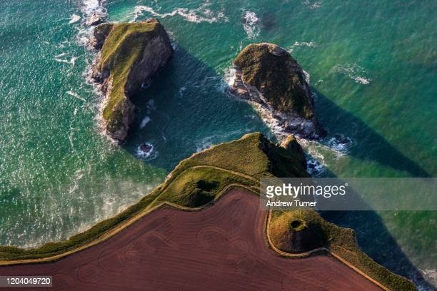 aerial islets - coastline stock pictures, royalty-free photos & images