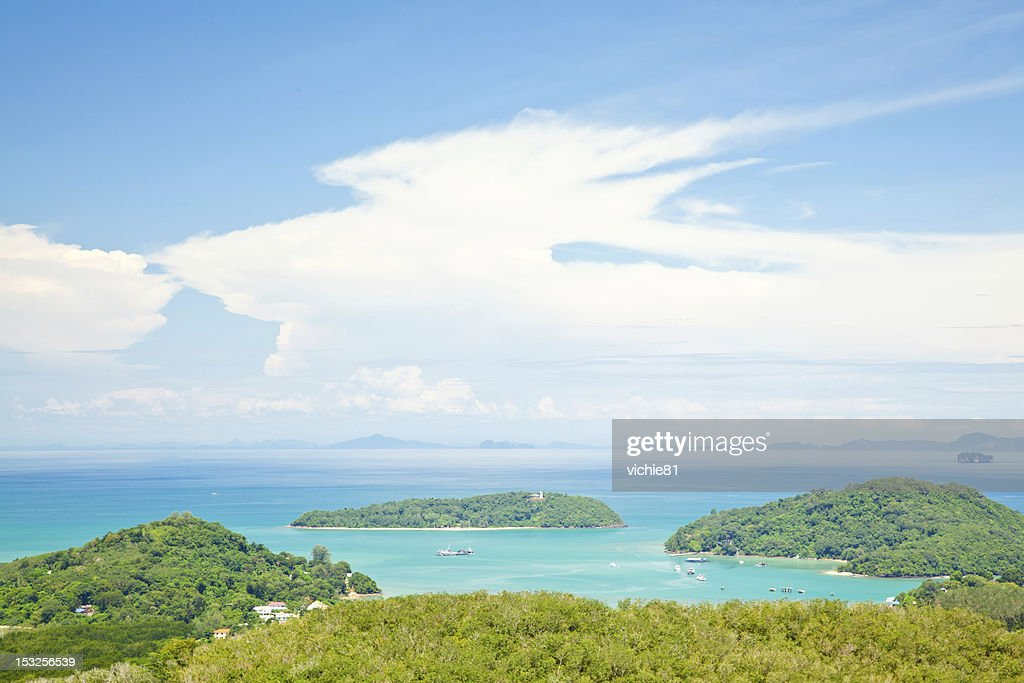 aerial landscape of phuket tropical beach stock photo getty images