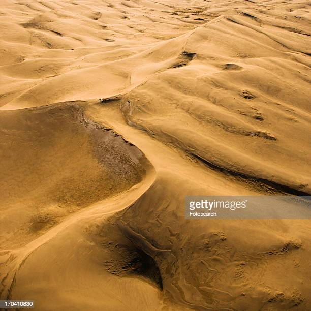 Aerial landscape of sand dunes in Great Sand Dunes National Park, Colorado
