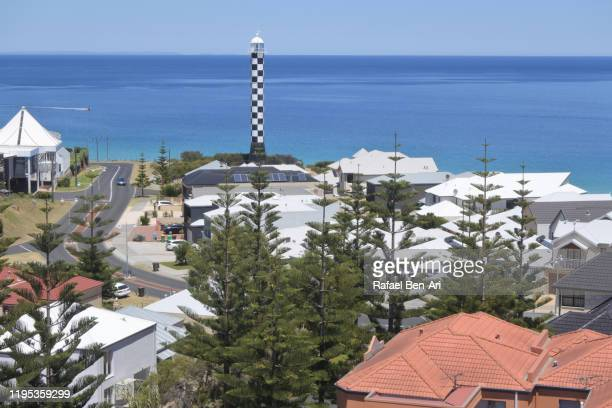 aerial landscape view of bunbury lighthouse in western australia - rafael ben ari stock pictures, royalty-free photos & images