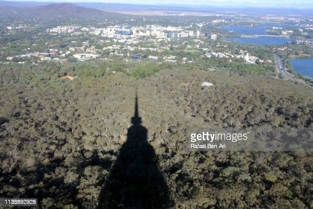 aerial landscape view of canberra australia - rafael ben ari stock pictures, royalty-free photos & images