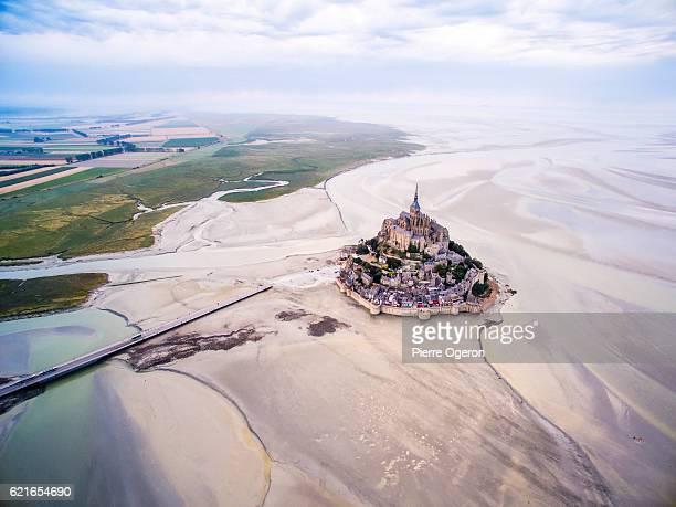 Aerial Le Mont-Saint-Michel