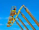 Aerial lifting platforms in the sky