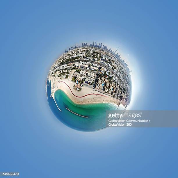 360° Aerial Little Planet of Jumeirah Beach, Dubai