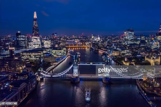 Aerial London Cityscape