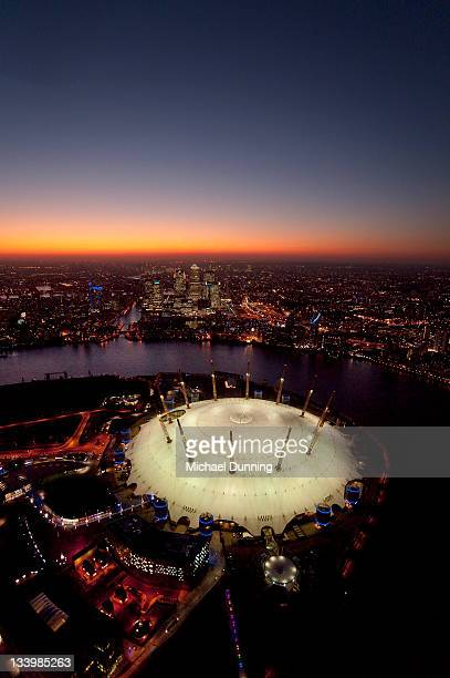 Aerial, London, Dome, Docklands,