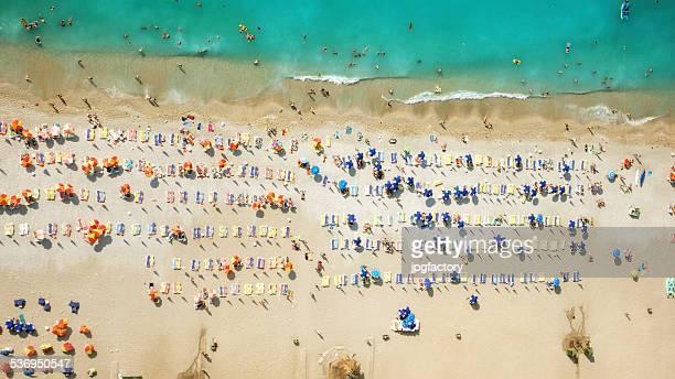 look aérienne de la plage