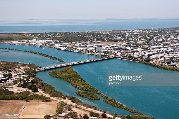 aerial mackay queensland - queensland stock pictures, royalty-free photos & images
