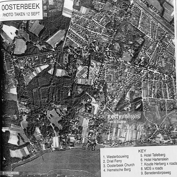 Aerial map of Oosterbeek September 1944 France