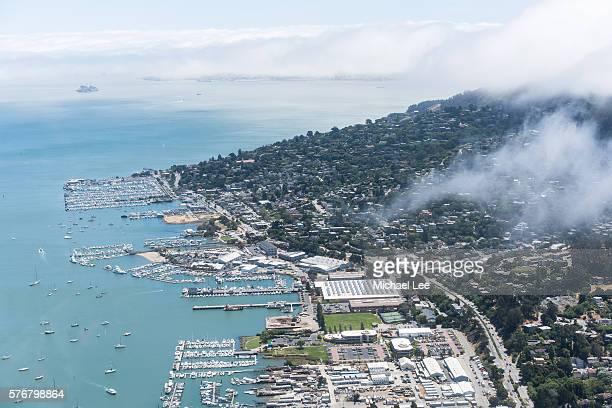 Aerial Marin and Sausalito - California