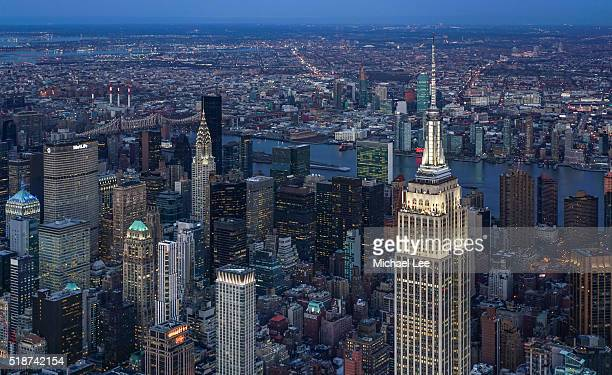 Aerial Midtown Manhattan - New York