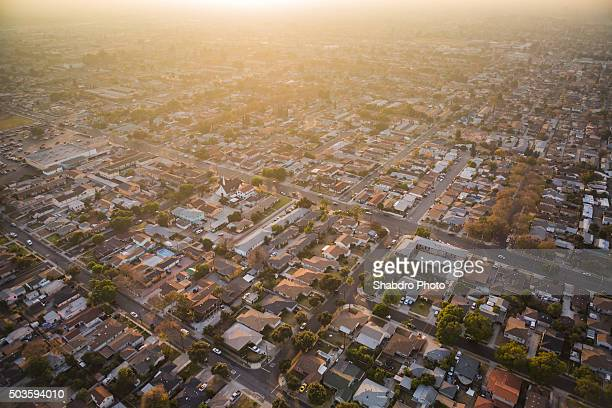 aerial neighborhood: socal - residential district stock pictures, royalty-free photos & images