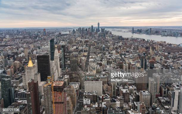 aerial new york - union square new york city stock pictures, royalty-free photos & images