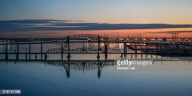 Aerial Newark Bay - New Jersey